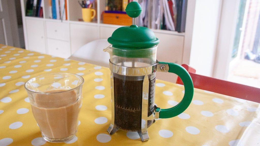 Cold brew coffee met melk