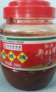 Foto van potje chili bean paste