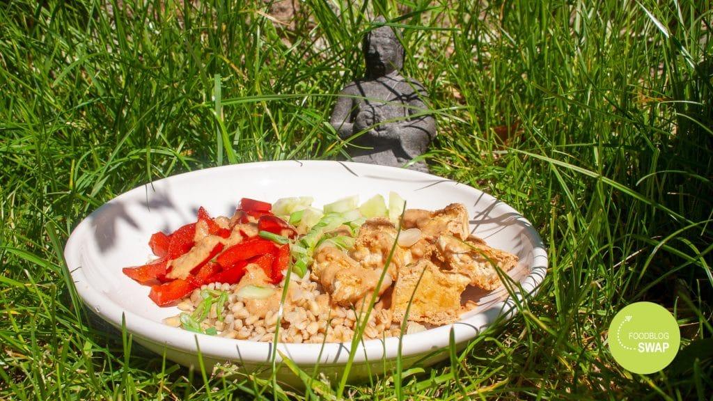 Buddha bowl met beeldje