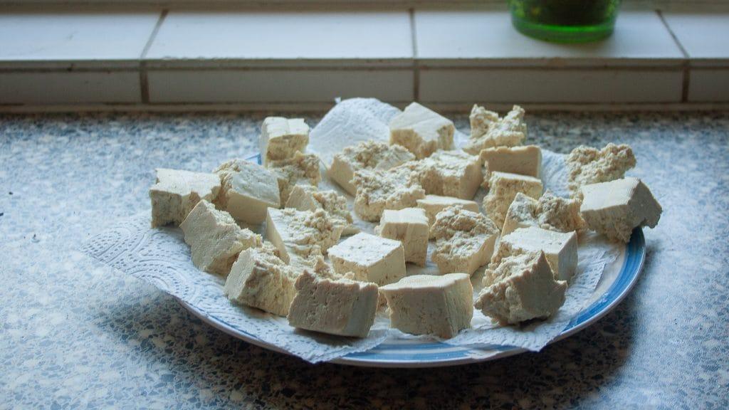Gescheurde tofu