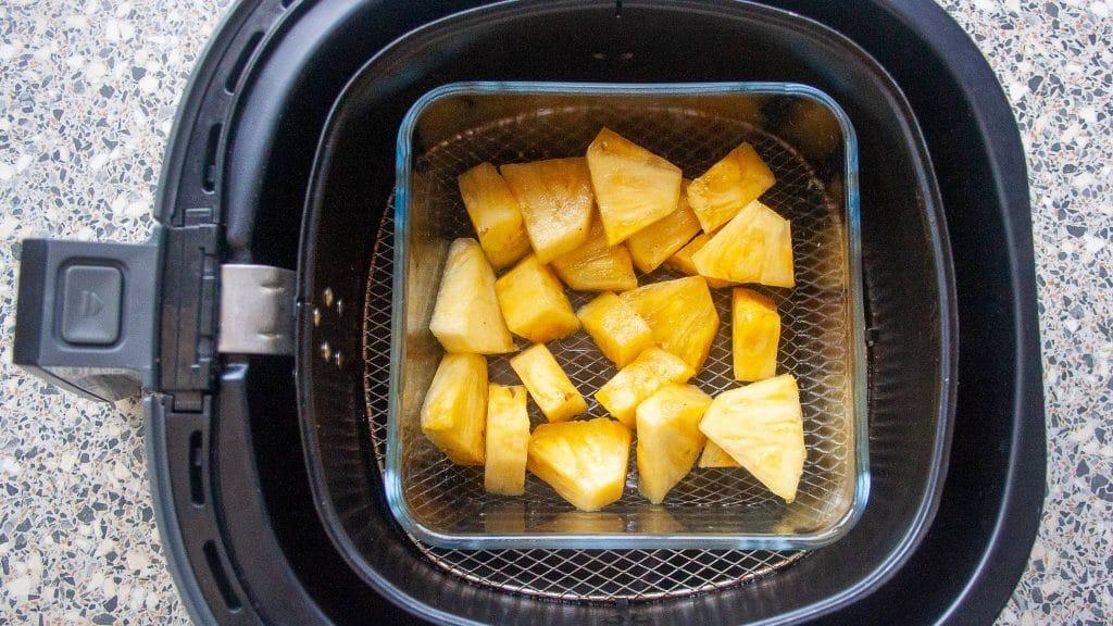 Bakje ananas in de airfryer