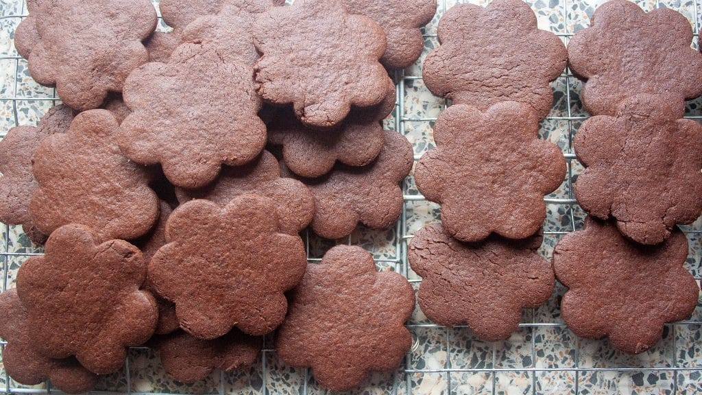 Stapel chocoladekoekjes