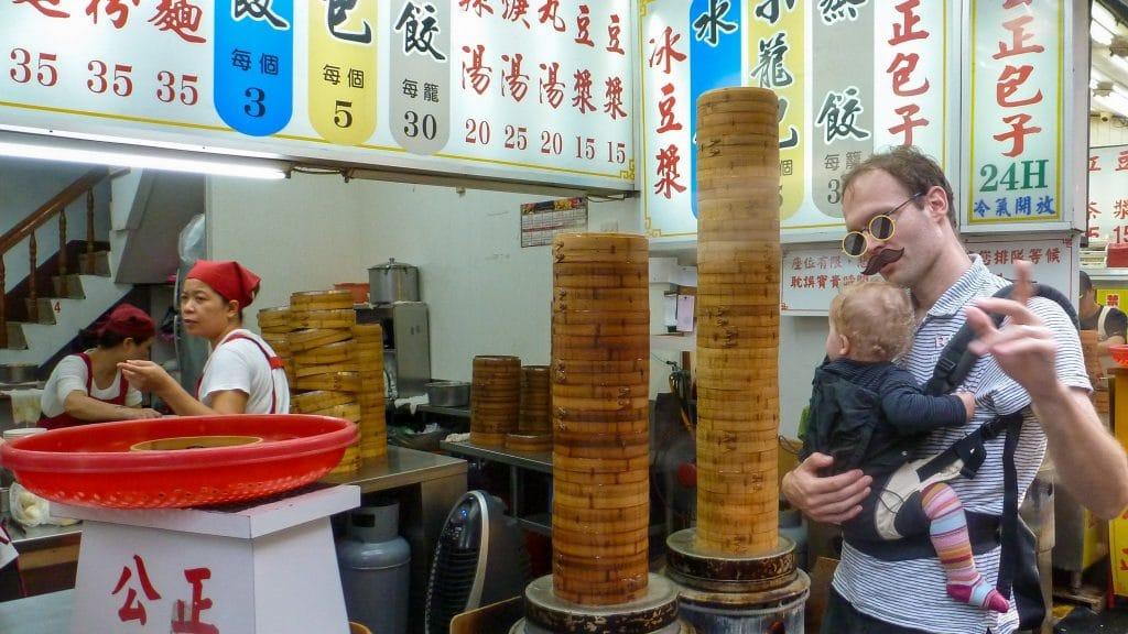 stoommanden met broodjes Hualien