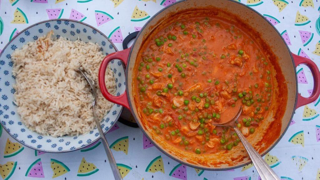 thaise viscurry en rijst
