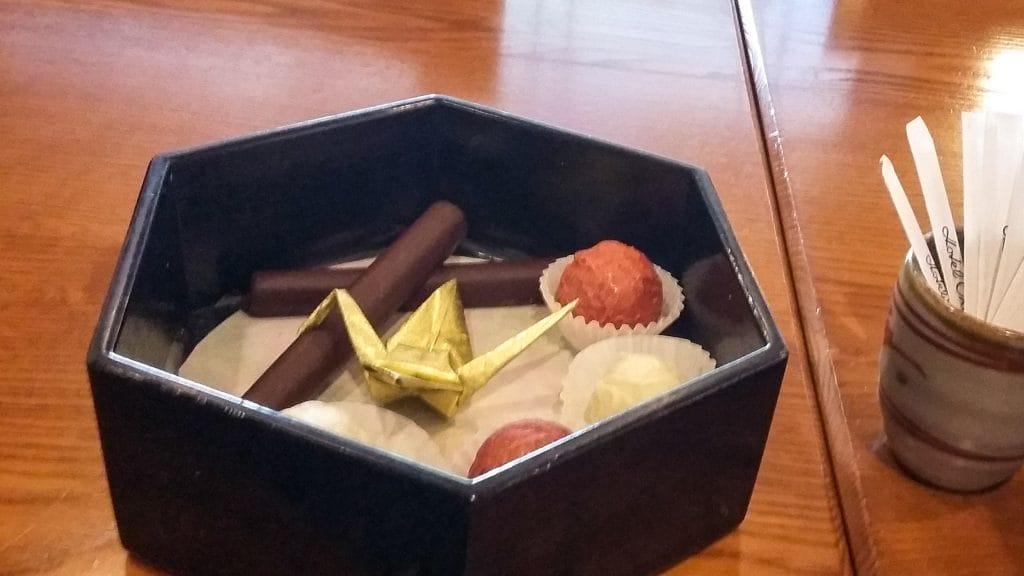chocola met kraanvogel