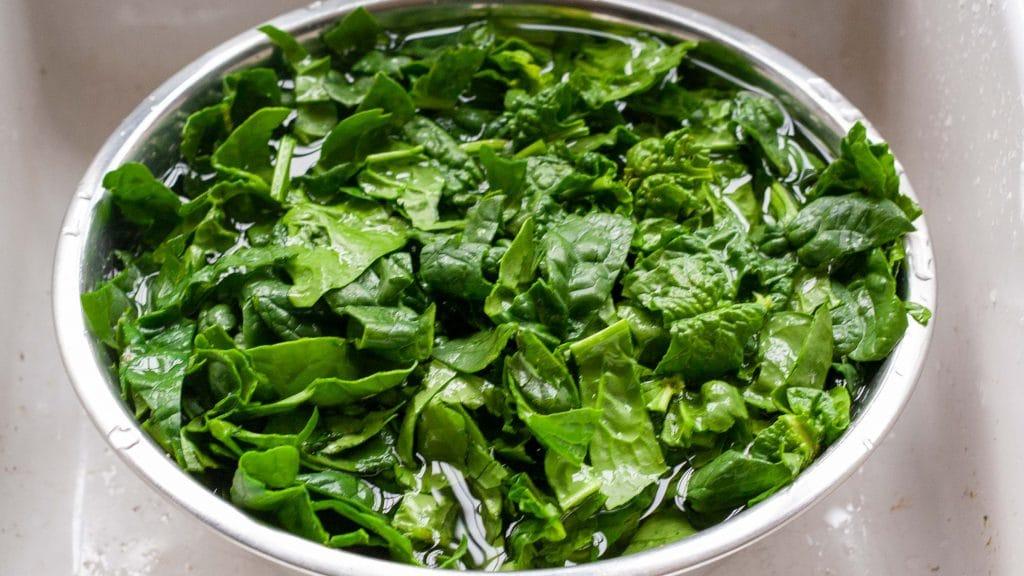 spinazie wassen