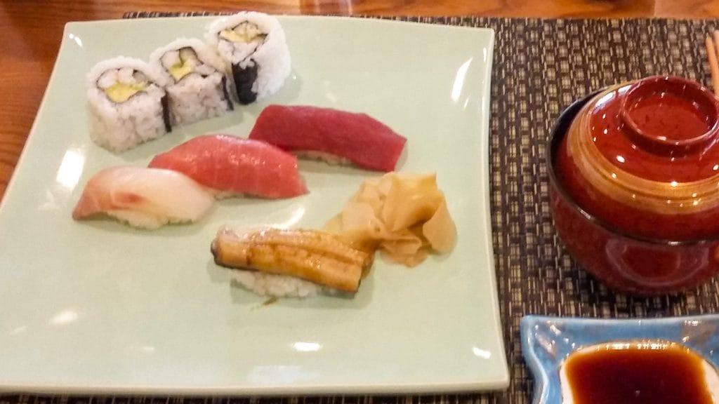 sushi bij Yamazato