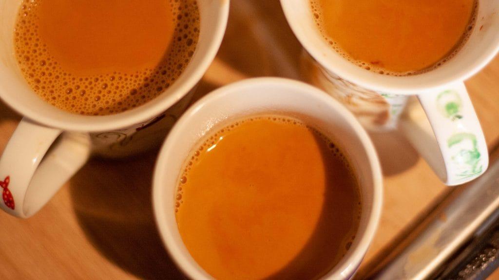Drie koppen chai tea