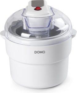 Ronde ijsmachine van Domo met doorzichtig deksel