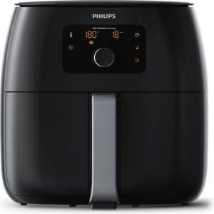 Vierkante Philips airfryer met ronde hoeken en digitaal display
